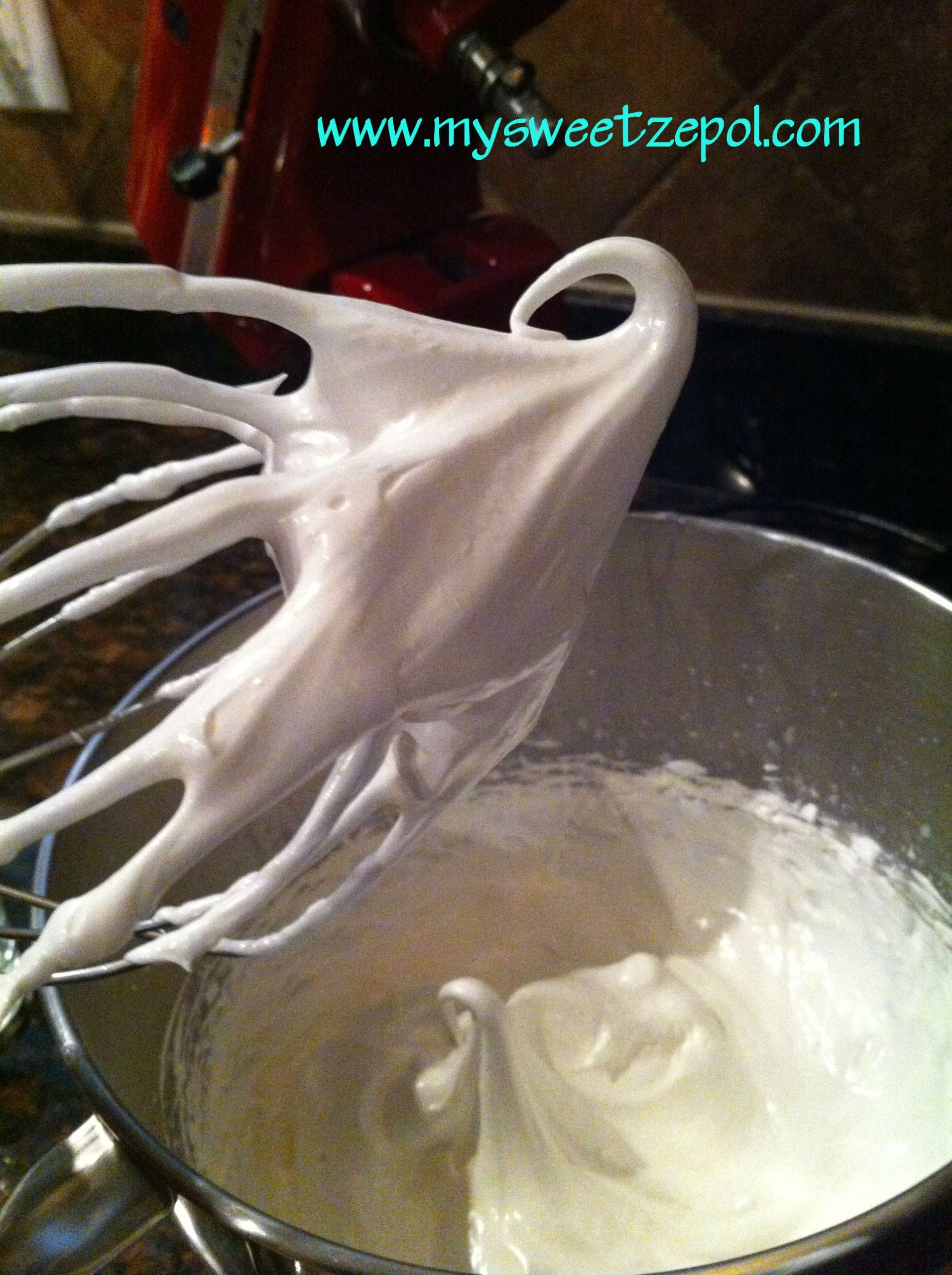 Meringue Cookies in the making
