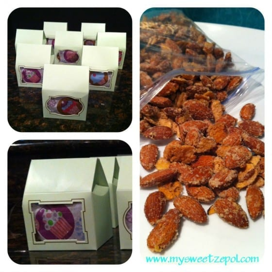 Vanilla Almonds. Vanilla nut treats (party favors)