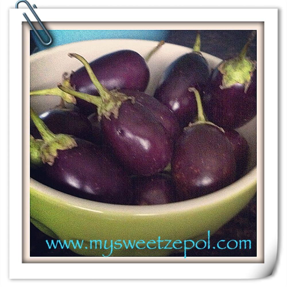 Eggplants, tiny eggplants