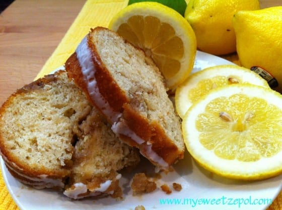 Lemon Pound Cake slices