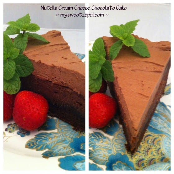 Nutella Cream Cheese Chocolate Cake by My Sweet Zepol