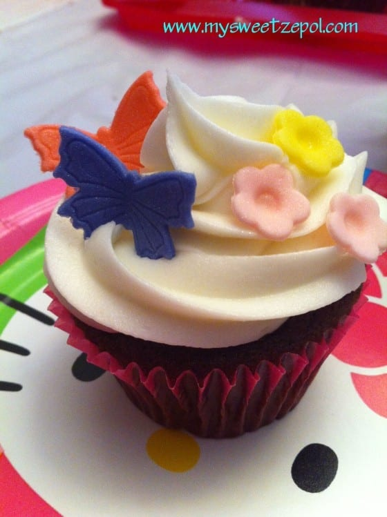 birthday butterfly cupcake