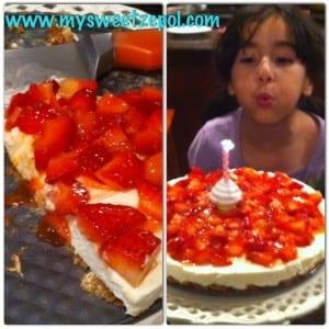no bake cheesecake birthday cake