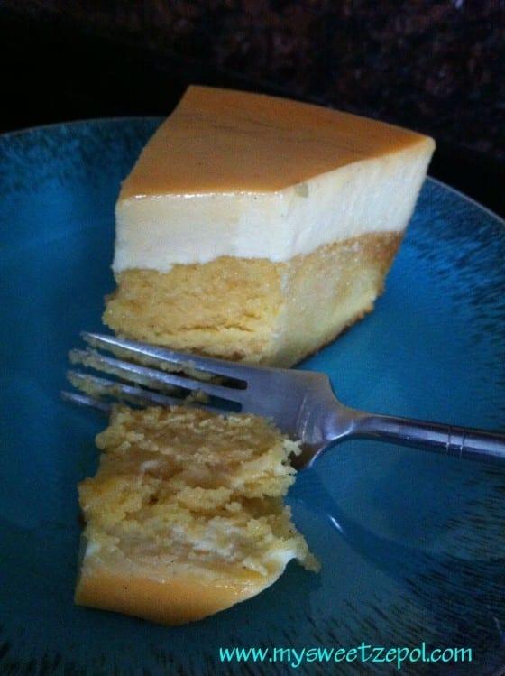 Cream Cheese Flancocho Cake / #recipe by My Sweet Zepol