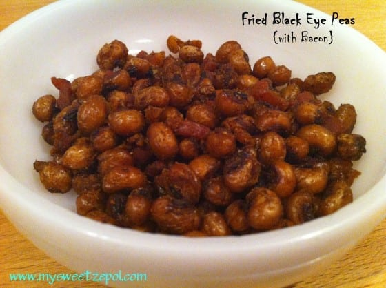 fried black eye peas with bacon from my sweet zepol