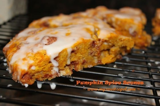 Pumpkin Spice Scones with glaze by mysweetzepol