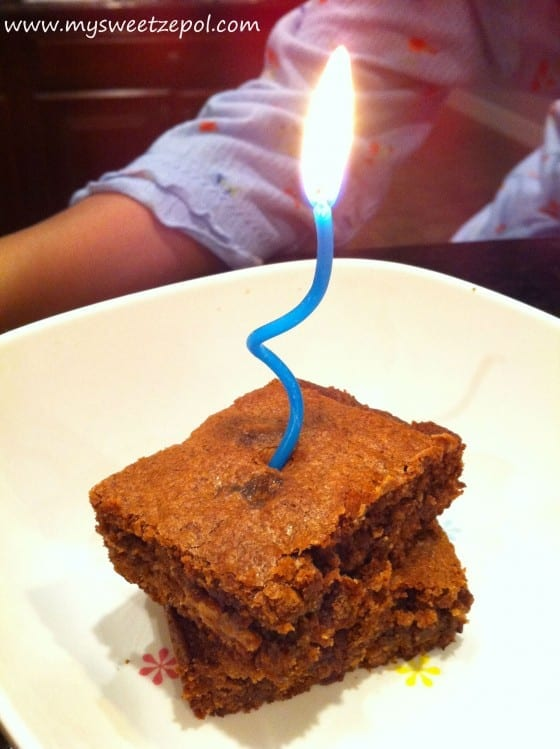 Chewy Peanut Butter Brownie