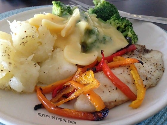 Tilapia-and-Sweet-Peppers-with-sides-my-sweet-zepol-2014