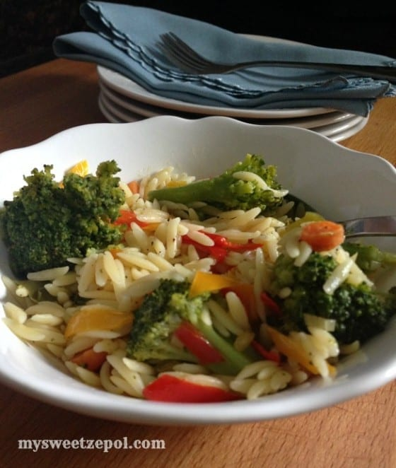 Broccoli-and-Sweeet-Peppers-Orzo-my-sweet-zepol-2014