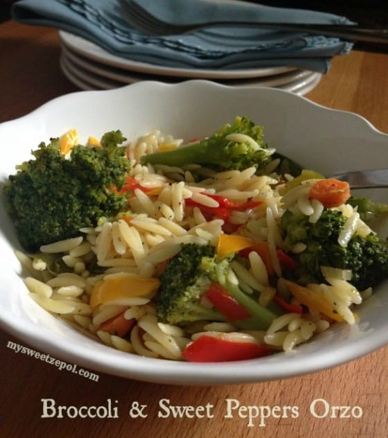 Broccoli-and-Sweeet-Peppers-Orzo-my-sweet-zepol