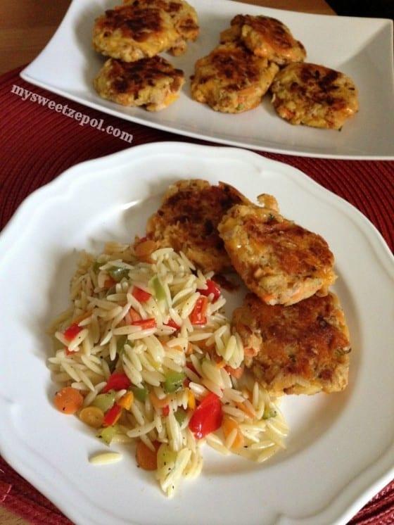 TunaCakes-with-Veggie-Orzo-mysweetzepol