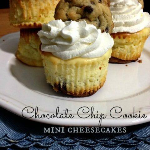 Chocolate Chip Cookie Mini Cheesecakes