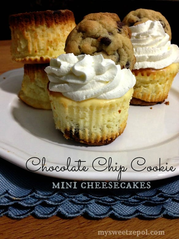 Chocolate Chip Cookie Dough Mini Cheesecakes Recipes — Dishmaps