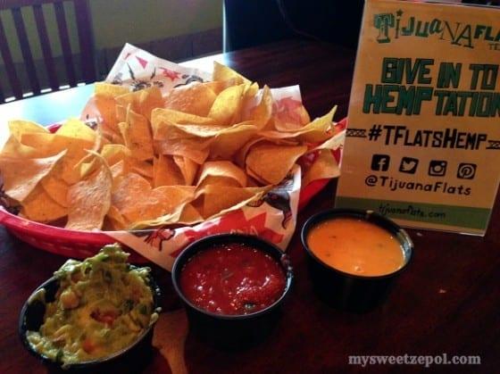 Tijuana Flats Nachos appetizer #TFlatsHemp