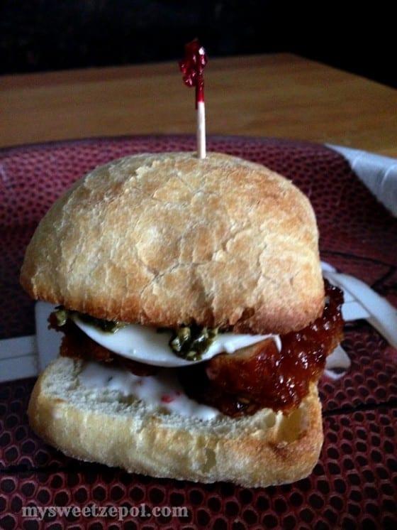 #ad Deli Wings Mini Ciabatta Sandwiches by My Sweet Zepol #GameTimeHero #CollectiveBias