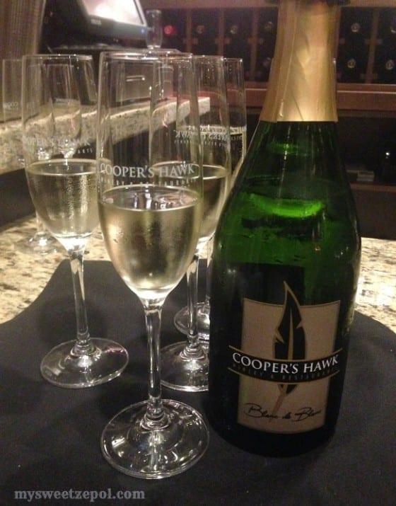 Sparkling White Wine Cooper's Hawk Winery / My Sweet Zepol #CHWineryOrlando