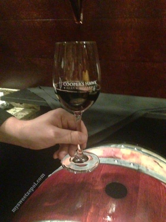 Wine Barrel at Cooper's Hawk Winery / My Sweet Zepol #CHWineryOrlando