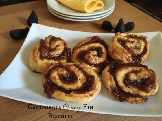 California Orange Fig Biscuits #spreadthelove / My Sweet Zepol #kitchenplay