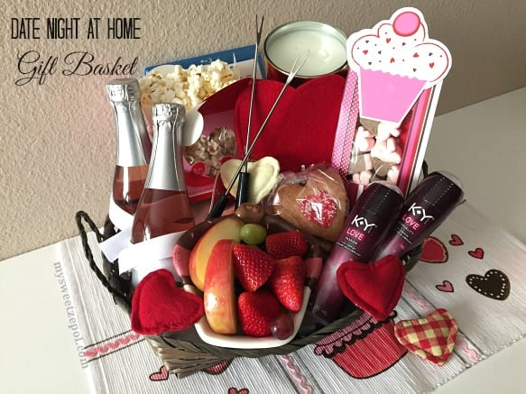 date night at home gift basket my sweet zepol
