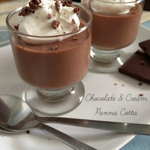 Chocolate and Cream Panna Cotta