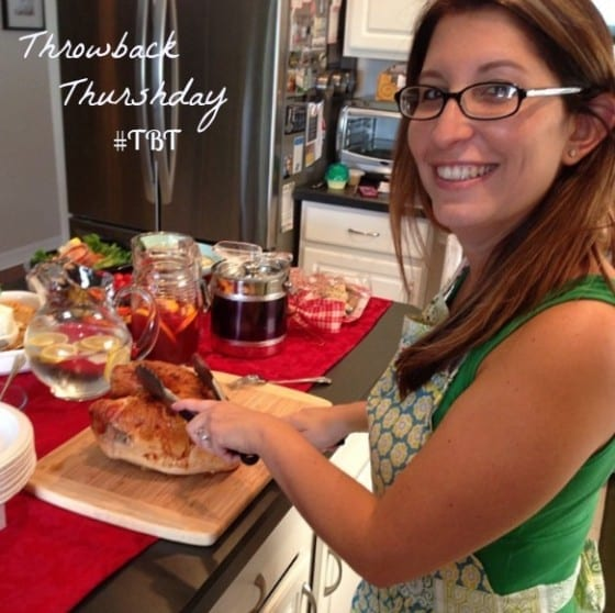 #tbt Katie at a potluck at her house 2012 (hosted by Katie's Cucina)