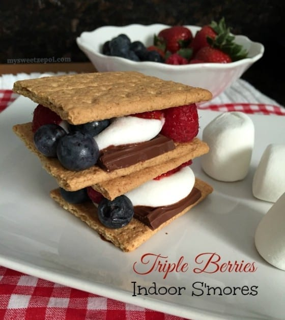 Triple Berries Indoor S'mores / #LetsMakeSmores / by My Sweet Zepol / #CollectiveBias #ad