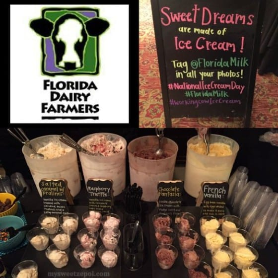 Ice Cream for dessert sponsored by Florida Dairy Farmers for #FWCon / My Sweet Zepol