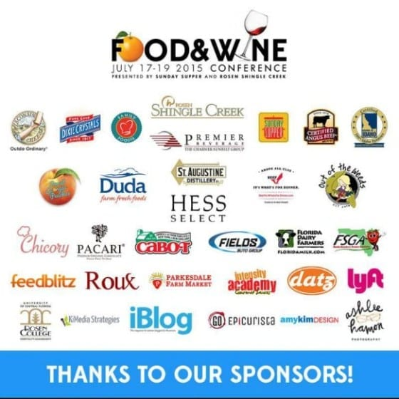 Food and Wine Conference 2015 Sponsors / #FWCon / My Sweet Zepol