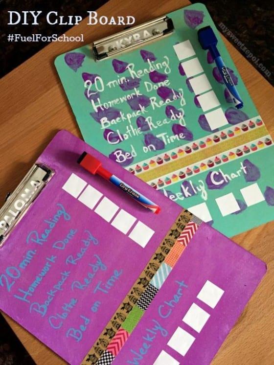 Back to School DIY Clip Board #FuelForSchool #CollectiveBias #ad / by My Sweet Zepol