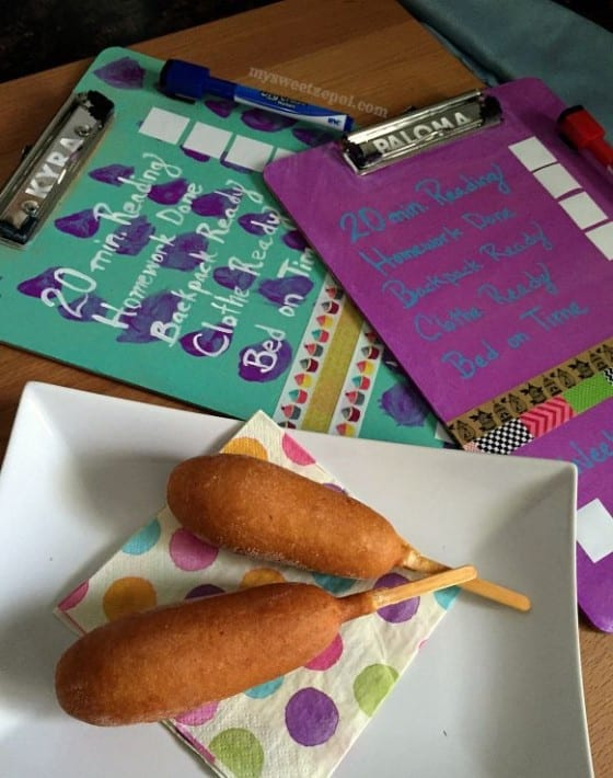 State Fair Corn Dogs / After School Sancking / Back to School DIY Clip Board #FuelForSchool #CollectiveBias #ad / by My Sweet Zepol