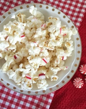 homemade candy cane popcorn
