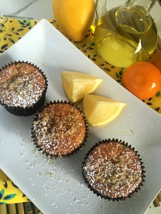 Citrus Olive Oil Muffins / muffins with a sponge texture and citrus aftertaste, perfect any time of the day specially during the morning with a hot cup of coffee / by My Sweet Zepol