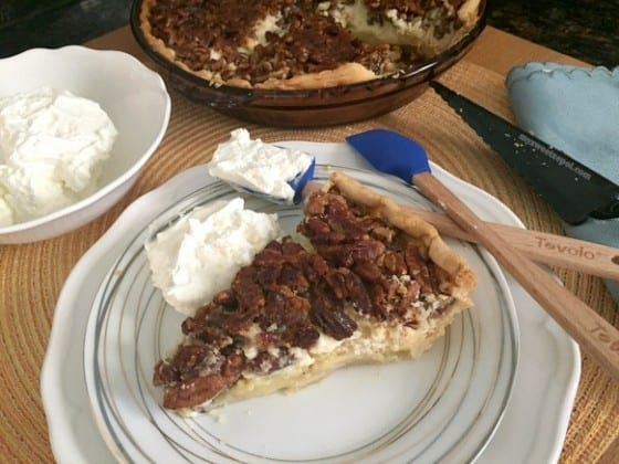 Cream Cheese Pecan Pie / #nationalpieday / creamy pecan pie indulgence perfect any time of the day / by My Sweet Zepol - food blog