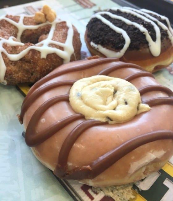 Cookie Jar Doughnuts / Chocolate Chip Cookie Dough from Krispy Kreme / My Sweet Zepol #cflb #KrispyKremeOrlando