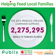 Produce for Kids helping feed local families / Feeding America ad #produceforkids