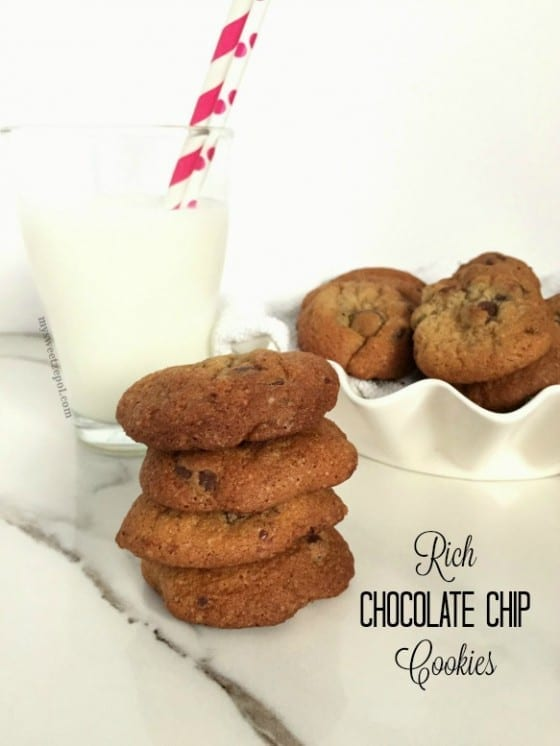 Rich Chocolate Chip Cookies / warning this chocolate chip cookies are super addictive / recipe by Wanda Lopez for My Sweet Zepol #foodblog Easter in June / #chocolatechipcookies