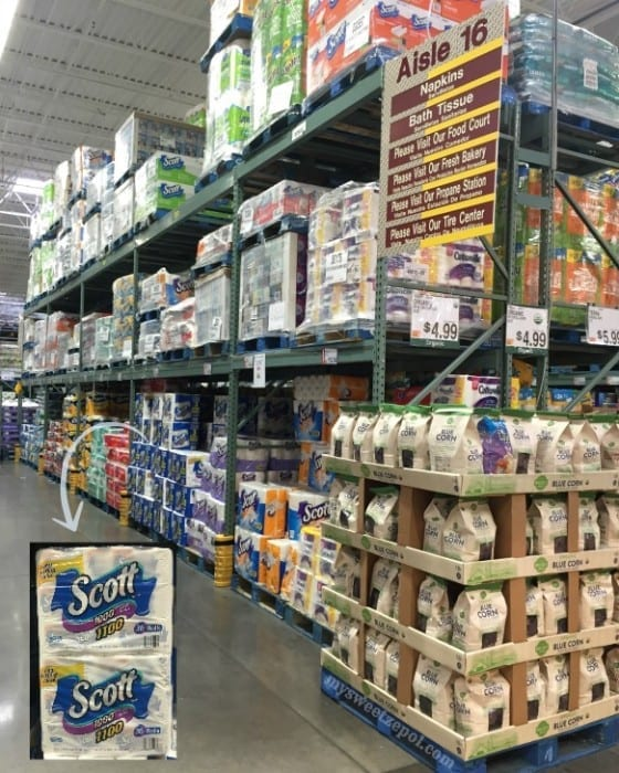 SCOTT® 1100 Bath Tissue in BJ's Wholesale / Get ready for house guests with customized bathroom essential gift baskets / #Scott100More #CollectiveBias #ad / by My Sweet Zepol - food and lifestyle blog #diy