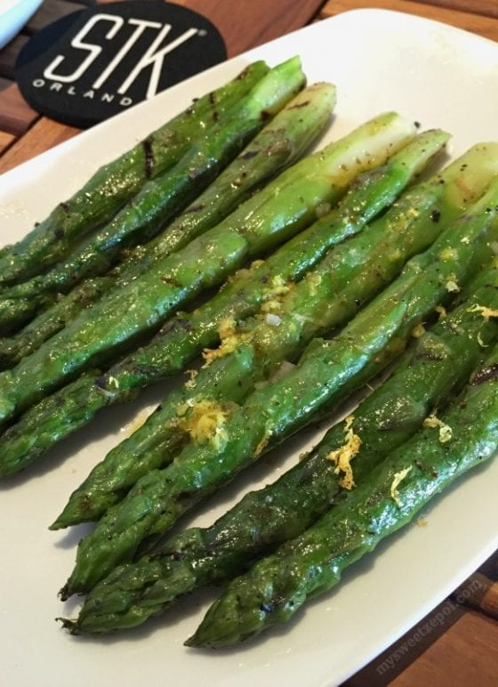 Asparagus with a touch of lemon zest from STK Orlando at Disney Springs / #BloggersWhoLunch Central Florida Lady Bloggers / by My Sweet Zepol #foodblog