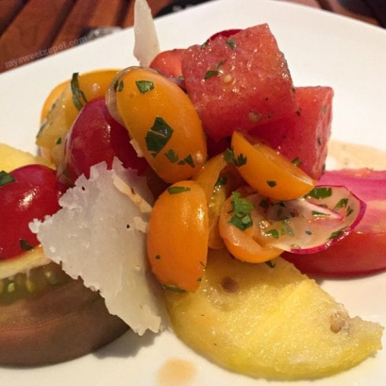 Heirloom Tomato & Watermelon - STK Orlando at Disney Springs / #BloggersWhoLunch Central Florida Lady Bloggers / by My Sweet Zepol #foodblog