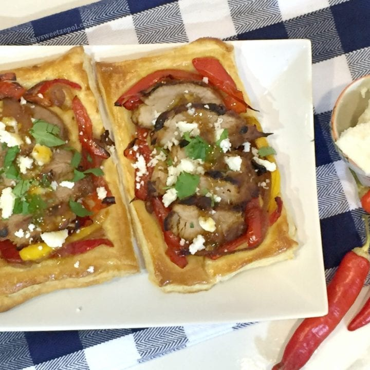 Pan-Grilled Fig and Peppers Pork Galettes
