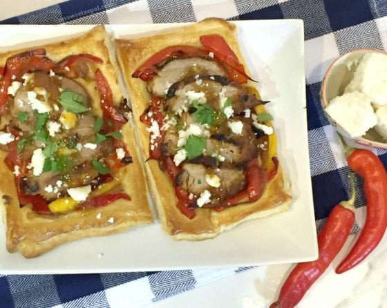 Make any night a special one with these Pan-Grilled Fig and Peppers Pork Galettes #PassThePork #realpigfarming recipe by My Sweet Zepol