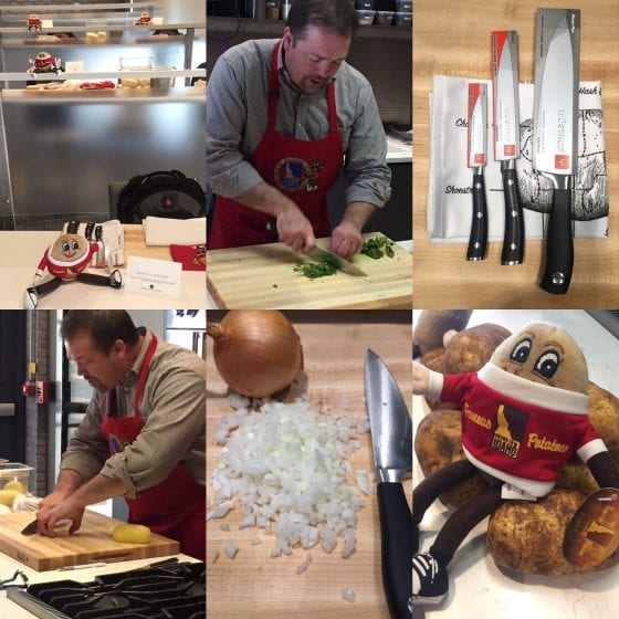 """Chef Chris teaching us some """"sharp"""" / Basic Kitchen Skills - Learn more about your knife skills, chances are you are doing it all wrong. At least I was. / #IdahoPotatoCutsClass at the Epicurean Hotel in Tampa / #SundaySupper / My Sweet Zepol"""