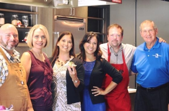 #hashed food competition winning team! / from left to right: Chef Dave, Heather, Christina, Wanda, Chef Chris, and Don / #IdahoPotatoCutsClass at the Epicurean Hotel in Tampa / #SundaySupper / My Sweet Zepol