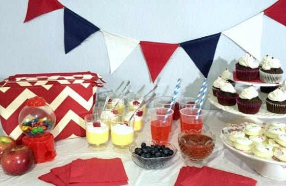 New School Friends Party and a DIY Chevron Pouch that doubles as a party favor / learn how to make and host a party for all your news friends / #Healthy4School #CollectiveBias by My Sweet Zepol ad