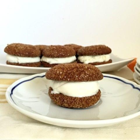 Molasses Ice Cream Sandwich Cookies