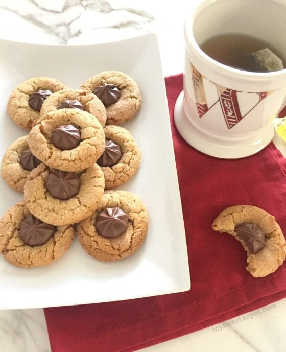 Biscoff Blossom Cookies are going to become your go to cookie recipe. by My Sweet Zepol #foodblog
