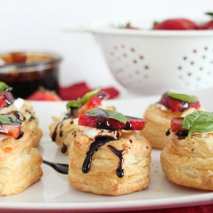 Balsamic & Brown Sugar Strawberry Canapés