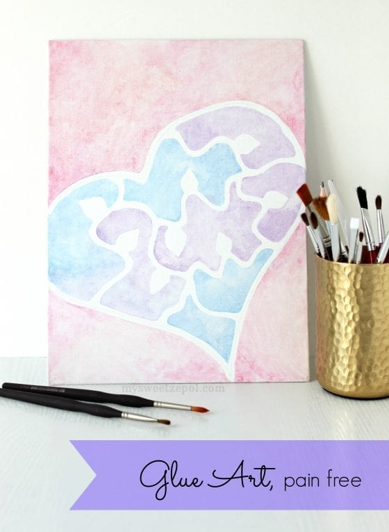Are you an art and craft lover/fan? I am! Learn how to make Glue Art, pain free / #WhatMonthlyPain #CollectiveBias AD / by My Sweet Zepol #craft