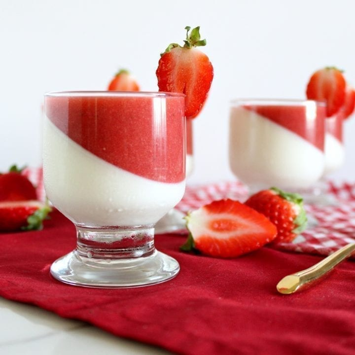 Strawberry Vanilla Panna Cotta