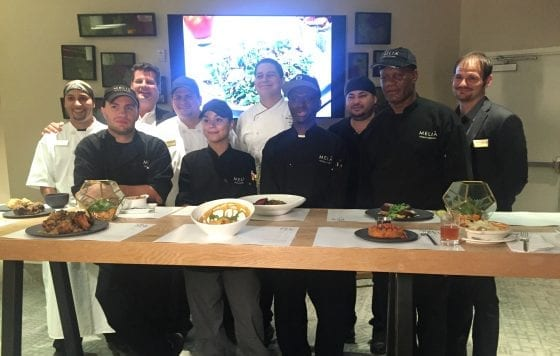 Chef Victor Moya and staff from 360 American Bistro and Bar at Melia Orlando Suites Hotel in Celebration
